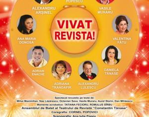 """Spectacolul de revista """"Vivat Revista!"""" in noiembrie la Medias"""