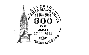 Stampila speciala dedicata Bisericii Sf. Margareta