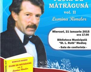 Lansare de carte Flori de Matraguna – vol. II Lumina Rimelor