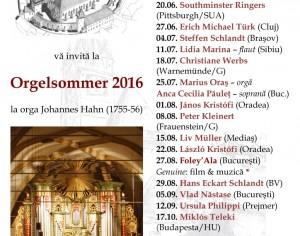 Concertele verii la Biserica Sf. Margareta