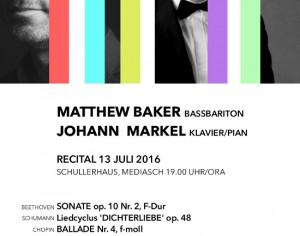 Matthew Baker si Johan Markel concerteaza la Medias