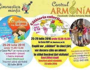 Activitati pentru copii la Centrul Armonia