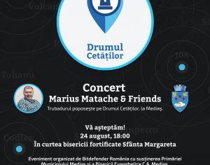 """Marius Matache incepe calatoria """"Drumul Cetatilor"""" la Medias"""